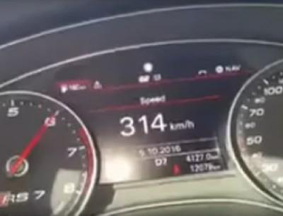 اجي جربها فالمغرب تمشي شناتف. بالفيديو سائق منوض روينة بسباب وصوله لسرعة 314 كيلومتر